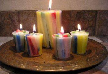 Dokonywanie świece w domu. Świece dekoracyjne z rękami