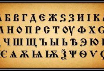 Slawische Worte. Altslawische Sprache. slawische Brief