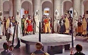 """Cavaleiros da Távola Redonda: """"O poder – isso não é justiça, justiça – que é poder."""""""