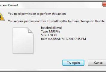 TrustedInstaller Windows 7 – ¿qué es? ¿Cómo puedo eliminar los archivos protegidos TrustedInstaller