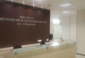 Instytut Żywienia Friman nazwy na Novoslobodskaya: recenzje Instytutu Żywienia i korekta A. figur Friman
