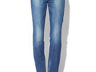 Frauen gerade Jeans – klassischer Kleiderschrank Artikel