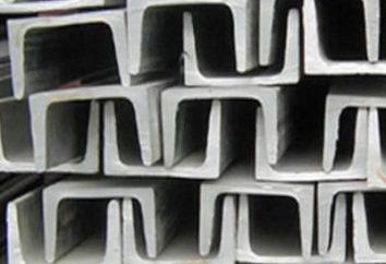Canal de acero – uno de los tipos más comunes de metales